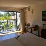 "Balcony/Living area with 50"" Plasma TV"