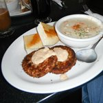 Crab cakes & Seafood Chowder