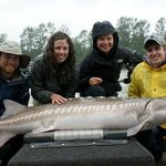 Group sturgeon fishing trip