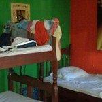 Dorm room in use