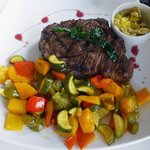 Beef Rib-Eye with Roasted Vegetables