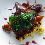 Slow Roasted Lamb Shank in red wine with coucous