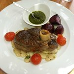Slow cooked lamb with salsa verde