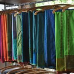 Colorful handloom sarees