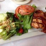 Excellent salmon BLT