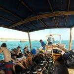 On the Scubafish dive boat