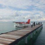 Sea plane landing area