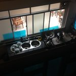 vu sur la cuisine depuis la chambre