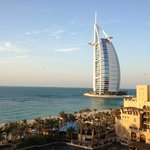View from our room of the Burj al Arab