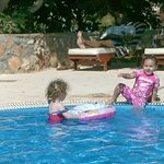 my Grandaughter & Friend in the Baby Pool