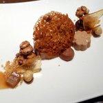 Dessert chocolade en praliné