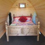 Inside our Glamping pod
