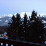 vue du balcon côté mont blanc