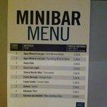 precios del minibar
