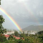 Double rainbow seen from our room!
