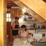 Foto en la cocina