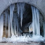 Ice cave found en blue route back to Chalet from Les Boisses
