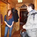 Smiley and friendly Etelka and entrance hall in Chalet