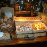 The other pastry/toast station