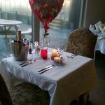 valentines table at the superb bradda glen