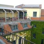 terraza del hotel con wifi e ideal para pasar la tarde