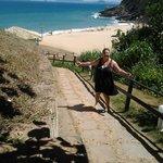 Caminho da pousada para a praia