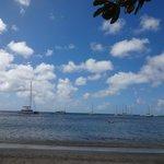 Yachts visiting Chatham Bay