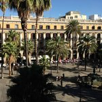View from room balcony over the Placa