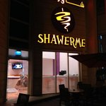 Outside the Hotel - Shawerme Restaurant (pretty good) open till 1 am