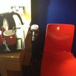Coffee, tea, and hair dryer