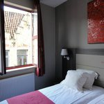 Bedroom overlooking the street, big and light