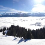 Panorama depuis les pistes de ski