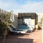 The rooftop plunge pool. About 3-4 times your average bathtub, for plunging to escape the heat o