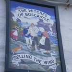 Boscastle witches sign