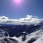 The view from the gondola from Arinsal to Pal