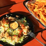 Gator & fries from Riptides next door to Ocean East