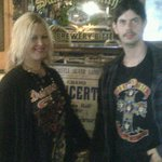 me and Karl in Cobweb Inn