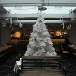 Christmas decoration at the dining area
