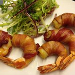 Deep fried Prawn, wrapped in Bacon