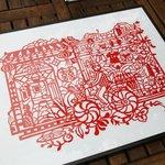 剪紙藝術家-吳耿禎,為《夜奔.北京》留下的創作,剪出老胡同裡的特色