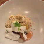 Pears, rocket, crab apple and hazlenut.