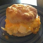 An egg & cheese biscuit to die for. Scrumptious!