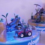 Vista de los juguetes de la habitación playmobil