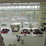 Hilton lobby at Heathrow terminal 4