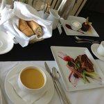 room service dinner tray