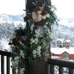 perfect winter wedding backdrop
