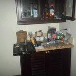 mini bar in butler room