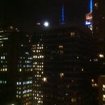 Empire State Building at night from my window