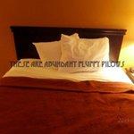 Adundant fluffy pillows