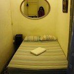 мой сингл, кровать удобная, но комната маленькая